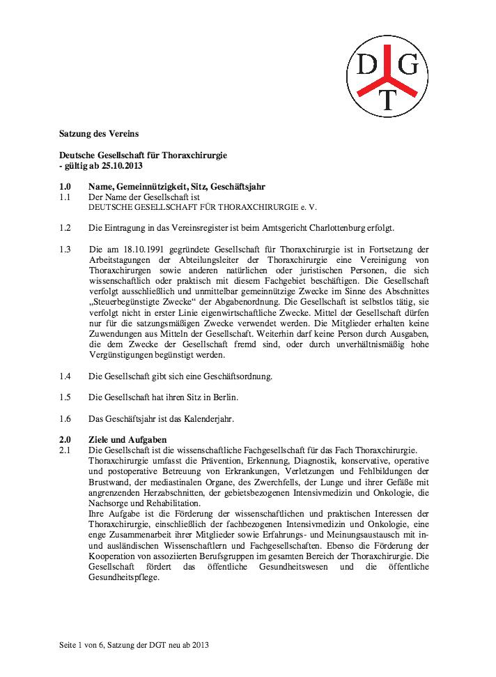 Satzung der DGT ab 2013